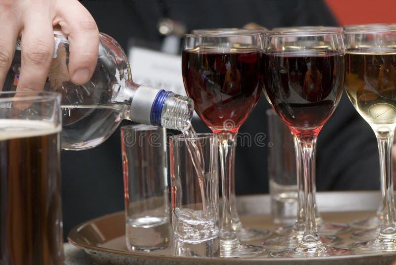 Vidrios con el vino. fotografía de archivo
