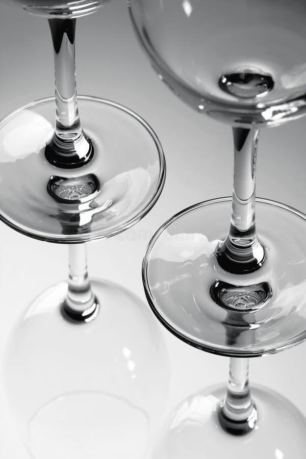 Vidrios de blanco y negro fotos de archivo