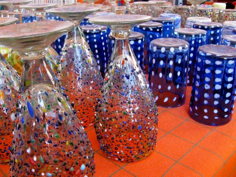 Vidrios de consumición coloreados imágenes de archivo libres de regalías