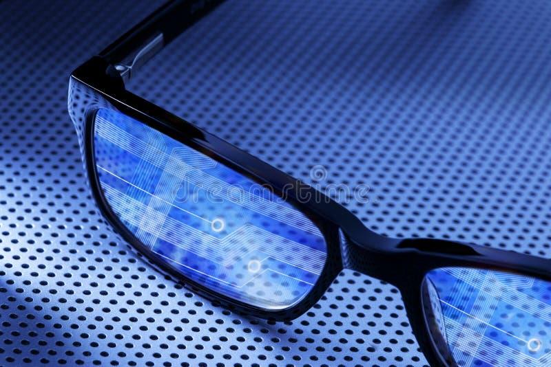 Vidrios de la calculadora numérica fotos de archivo