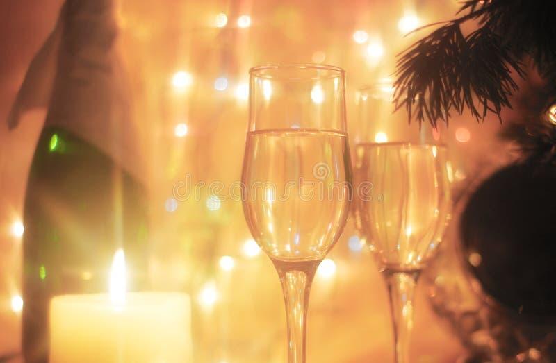 Vidrios de la Navidad foto de archivo libre de regalías