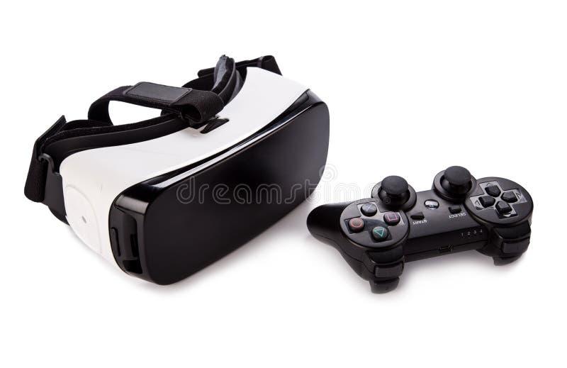Vidrios de la realidad virtual de VR en el fondo blanco imágenes de archivo libres de regalías