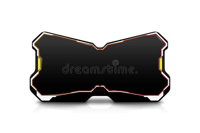 Vidrios de la realidad virtual del vector, estereoscópicos stock de ilustración