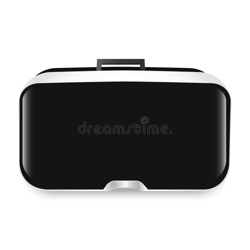 Vidrios de la realidad virtual Tecnología de VR Ilustración del vector Ejemplo estereoscópico del vr 3d Dispositivo de la innovac ilustración del vector