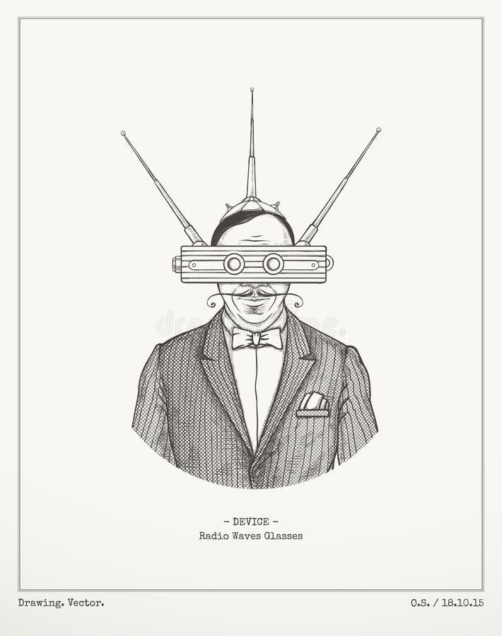 Vidrios de las ondas de radio fotografía de archivo