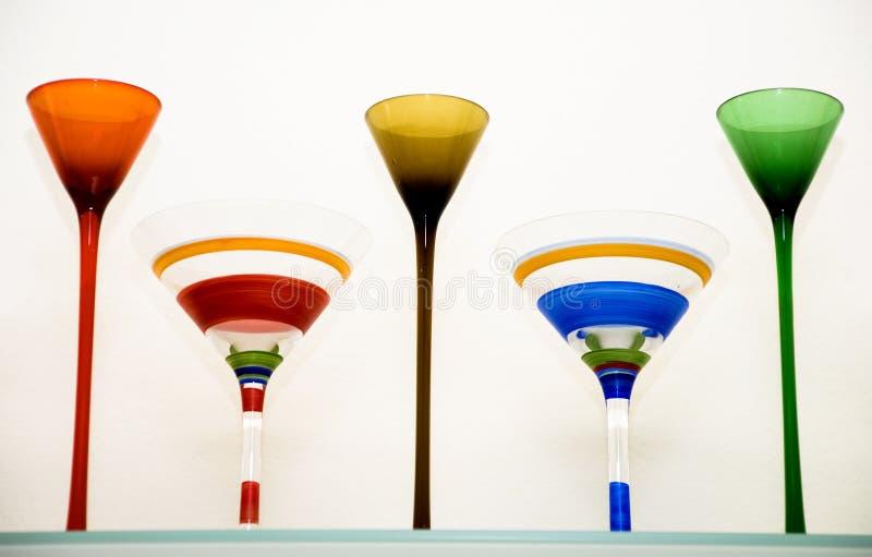 Vidrios de Martini fotografía de archivo libre de regalías