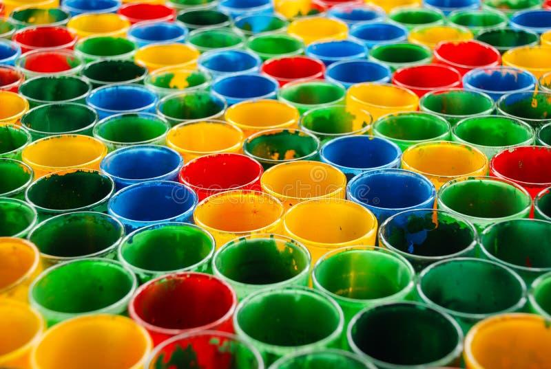 Vidrios de mezcla del color foto de archivo