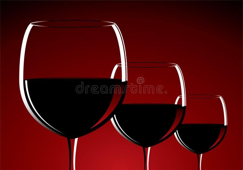 Vidrios de vino ilustración del vector