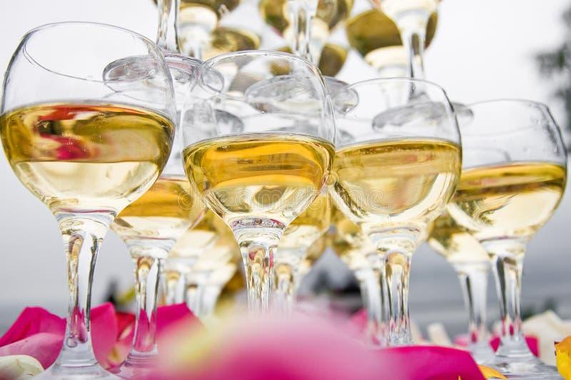 Vidrios de vino fotos de archivo