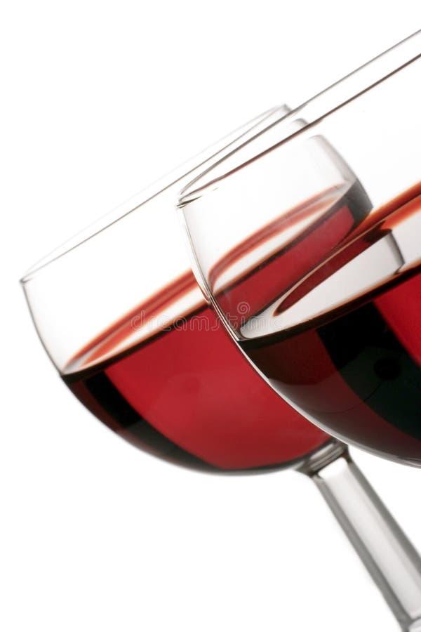 Vidrios de vino rojo imagen de archivo