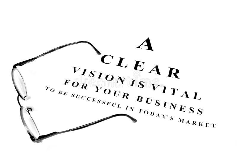 Vidrios del ojo para el éxito empresarial imágenes de archivo libres de regalías