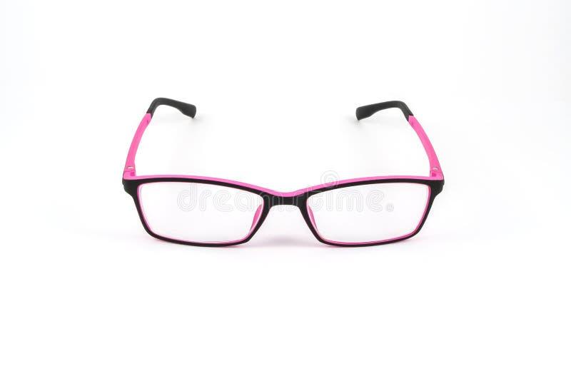 Vidrios del plástico del ojo del negro y del rosa fotos de archivo