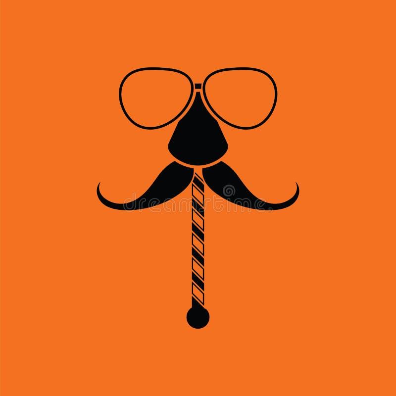 vidrios e icono del bigote libre illustration
