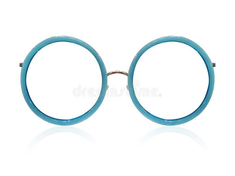 Vidrios en el fondo blanco Negro de la moda Gafas de sol negras S fotografía de archivo libre de regalías