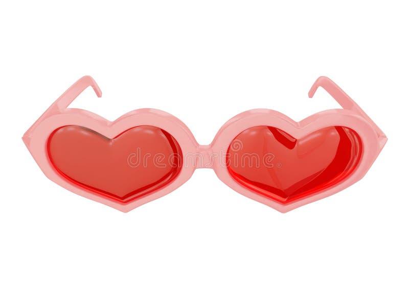 Vidrios en forma de corazón libre illustration