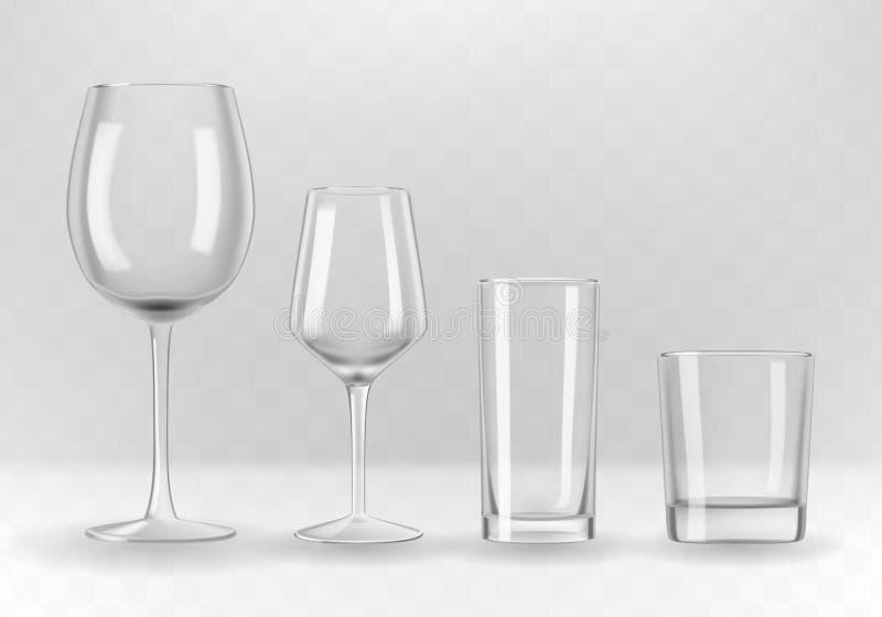 Vidrios fijados ilustración del vector