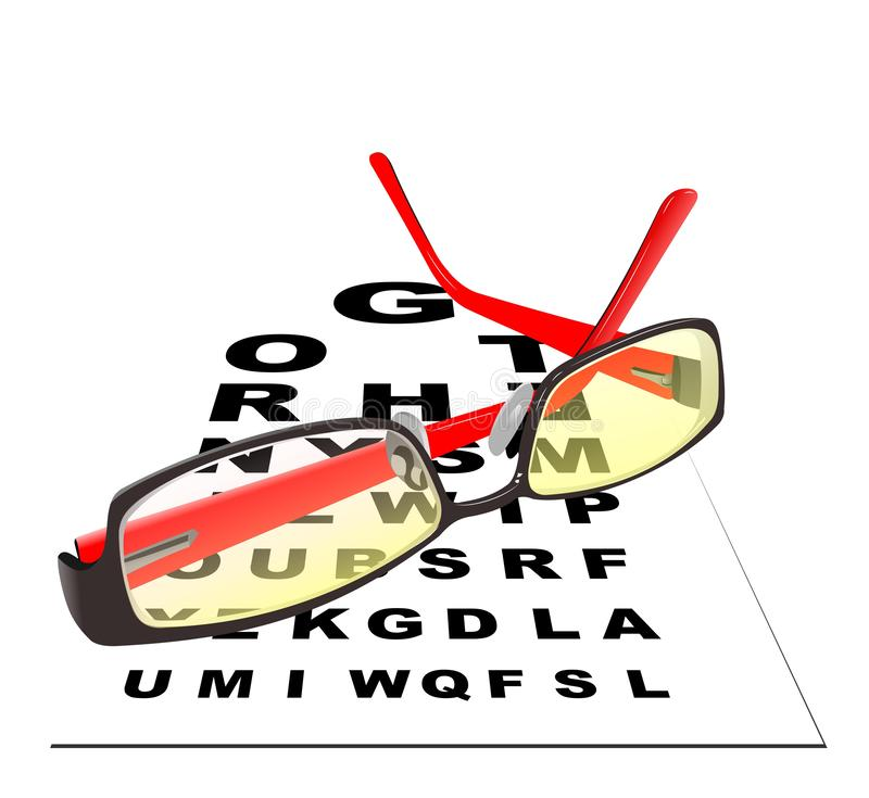 Vidrios para leer ilustración del vector