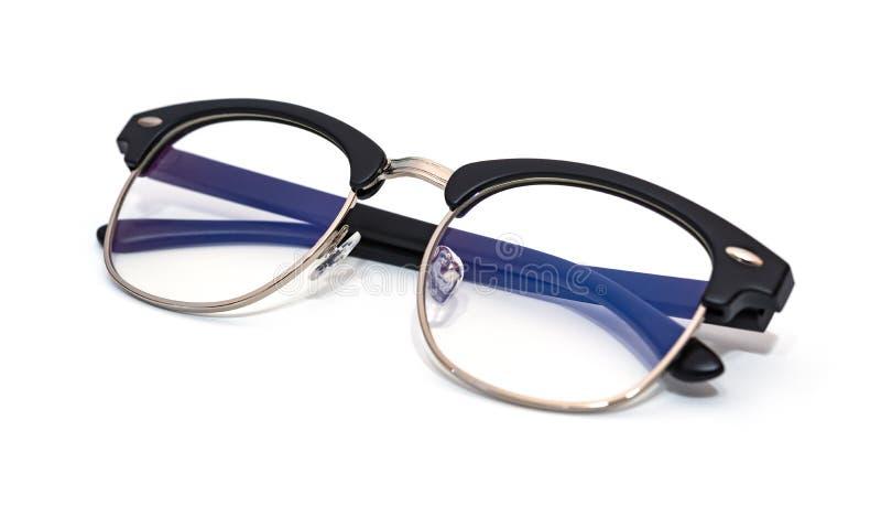 Vidrios protectores con la capa azul del filtro fotografía de archivo