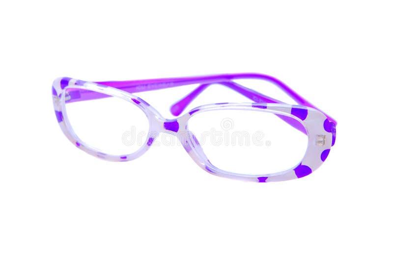 Vidrios punteados polca púrpura foto de archivo libre de regalías