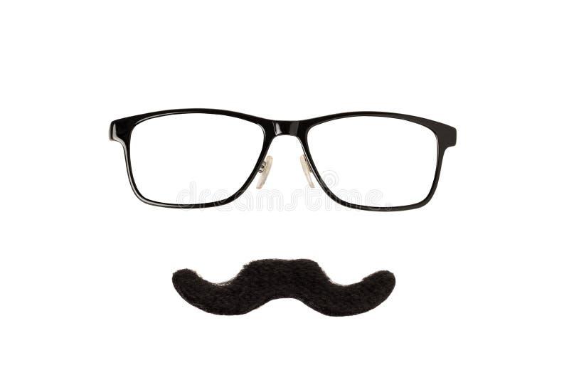Vidrios y bigote fotos de archivo libres de regalías