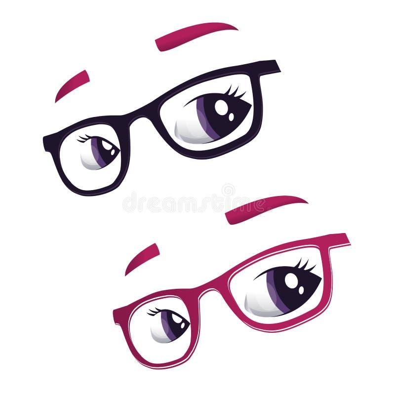 Vidrios y ojos libre illustration