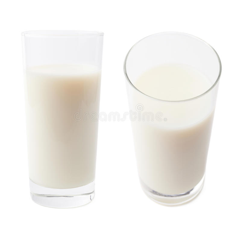 Vidro alto do leite isolado imagens de stock royalty free