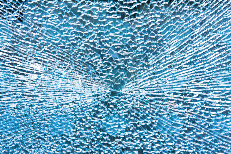 Vidro azul quebrado foto de stock royalty free