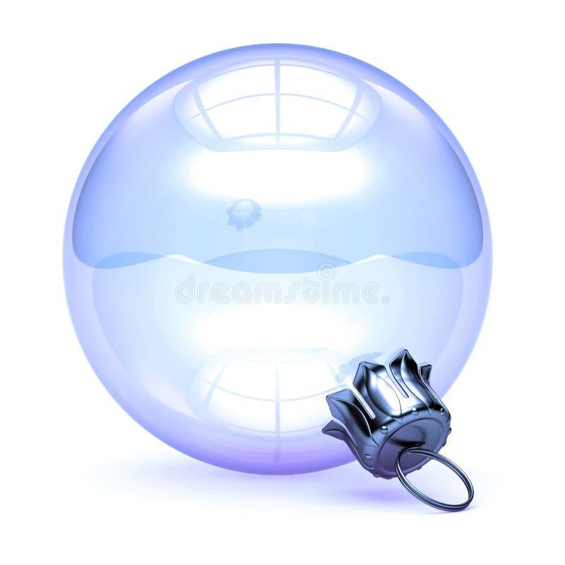 Vidro branco da bola do Natal da quinquilharia da bolha da véspera de Ano Novo translúcido ilustração stock