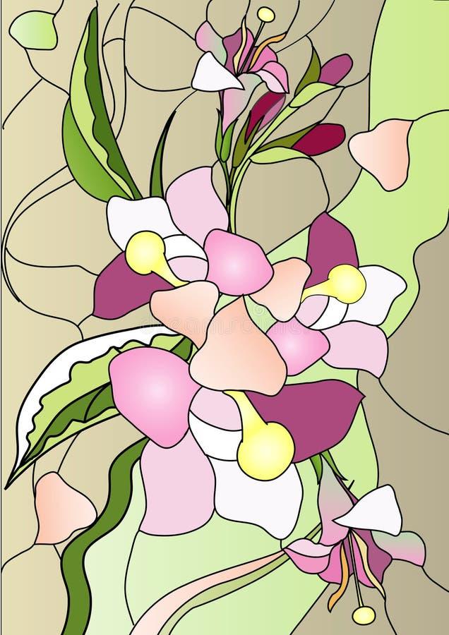 Vidro colorido ilustração royalty free