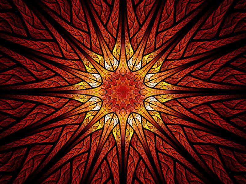 Vidro colorido colorido de Sun ilustração do vetor