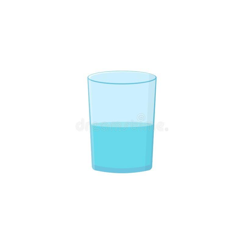 Vidro com água ilustração stock