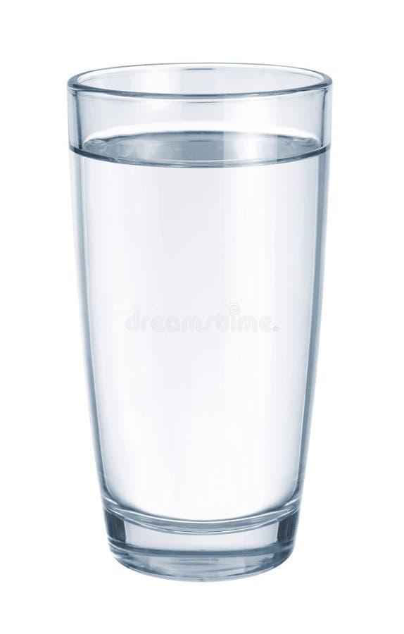 Vidro com água fotografia de stock