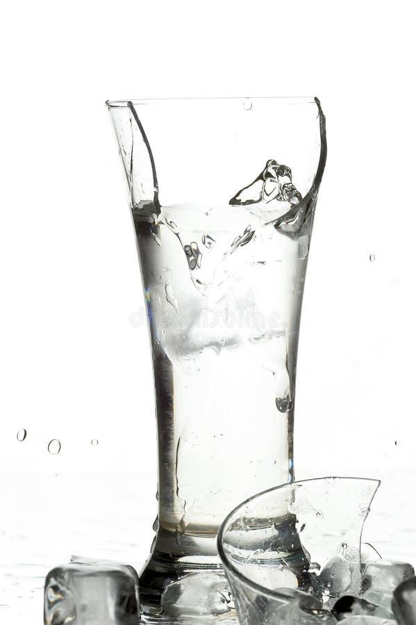 Vidro com água fotos de stock royalty free