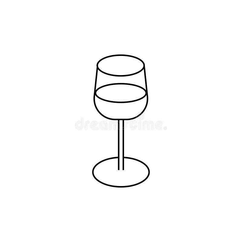 Vidro com ícone da bebida ilustração royalty free