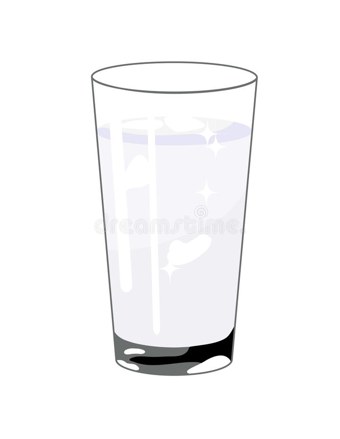 Vidro da água ilustração do vetor