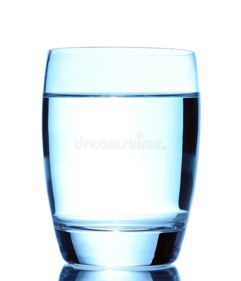 Vidro da água isolado no branco imagem de stock