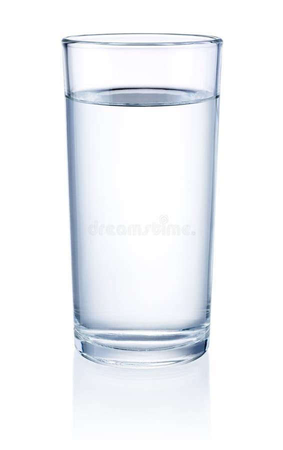 Vidro da água isolado no fundo branco imagens de stock royalty free