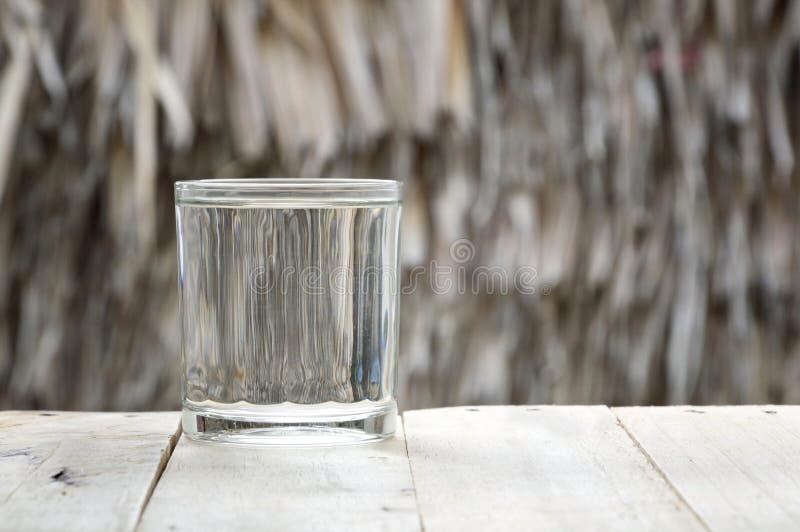 Vidro da água purified fotografia de stock royalty free