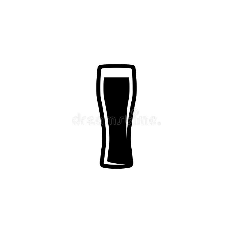Vidro da cerveja Bar, ícone da barra ilustração stock