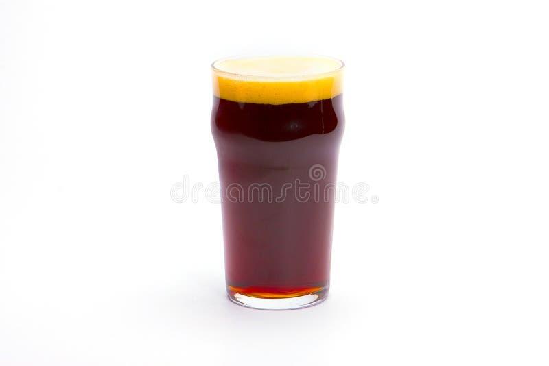 Vidro da cerveja escura fotografia de stock