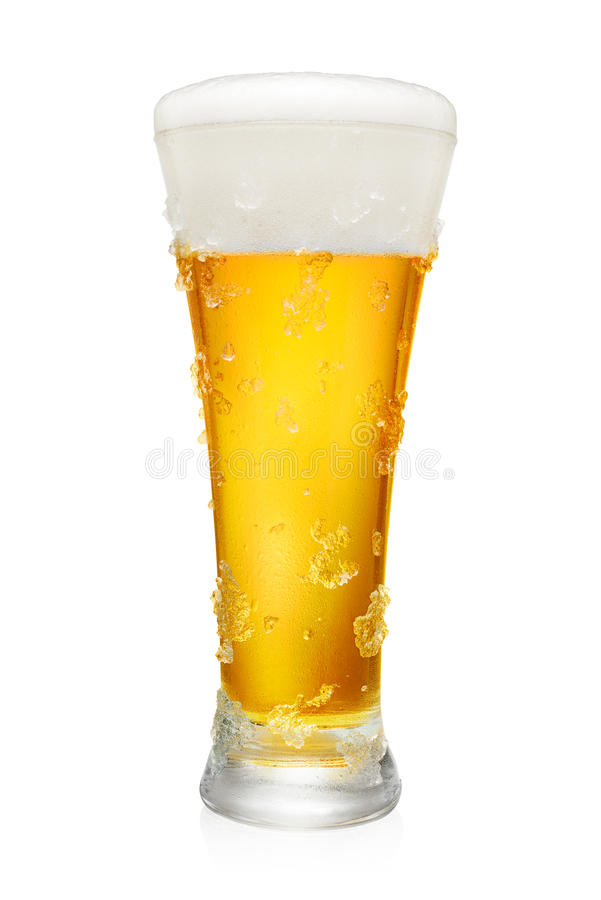 Download Vidro da cerveja no branco foto de stock. Imagem de bebida - 80102244