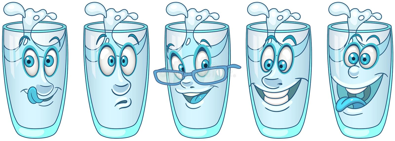 Vidro de água Conceito da bebida da bebida ilustração royalty free