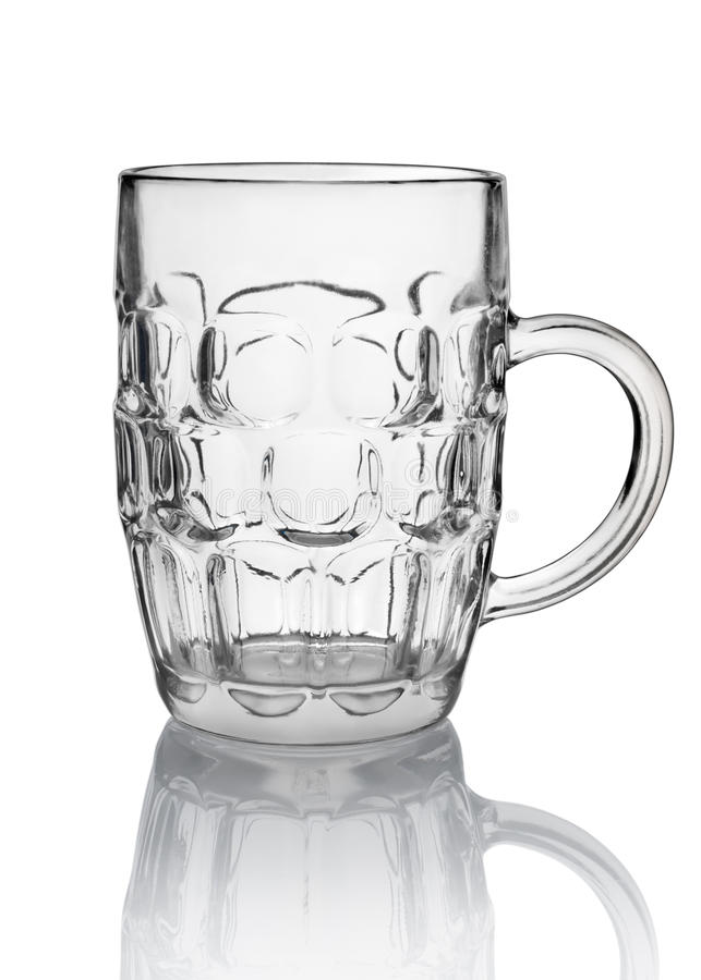 Vidro de cerveja grande isolado fotografia de stock
