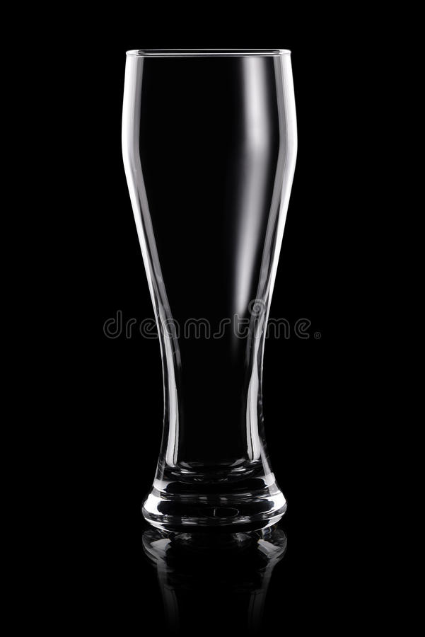 Download Vidro De Cerveja Transparente Vazio Imagem de Stock - Imagem de dishware, ninguém: 65576565