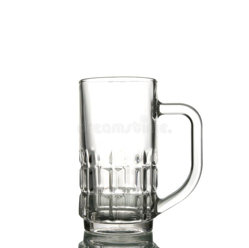Vidro de cerveja vazio imagens de stock royalty free