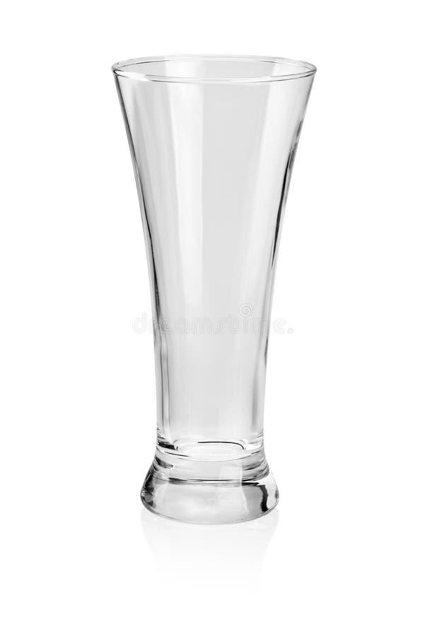 Vidro de cerveja vazio isolado foto de stock