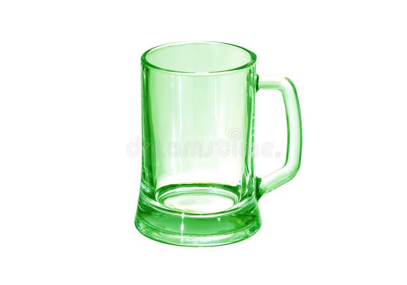 Vidro de cerveja vazio isolado no fundo branco imagens de stock royalty free