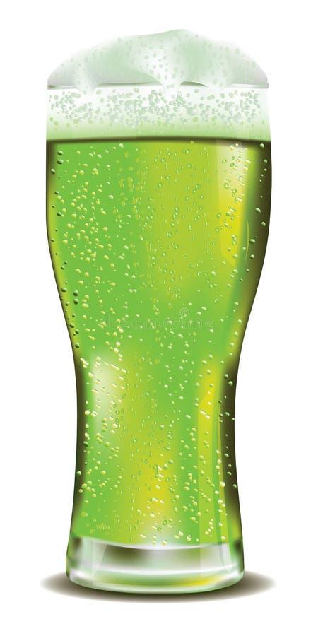 Vidro de cerveja verde ilustração stock