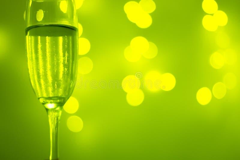 Vidro de Champagne no partido imagem de stock royalty free