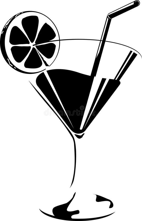 Vidro de cocktail ilustração do vetor
